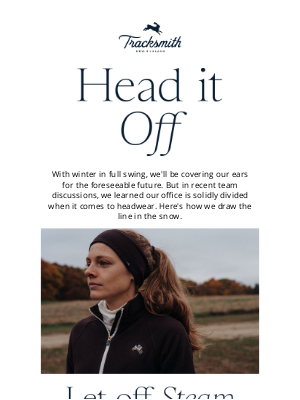 Tracksmith - In Which We Debate Hats vs. Ear Warmers