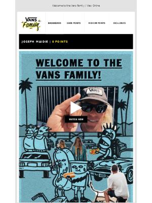 Vans - It's Official, You're In!