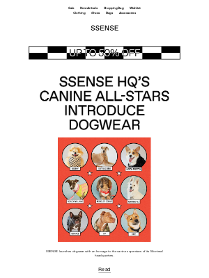 Best In Show: Dogwear Launches at SSENSE