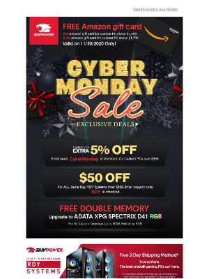 iBUYPOWER - Cyber Monday Deals are Live!👏