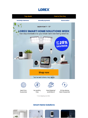 Lorex Technology - Lorex Smart Home Solutions Week - Save up to 25% on our latest Smart Home Products!