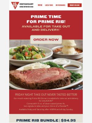 BJs Restaurants - AMAZING Prime Rib Specials!