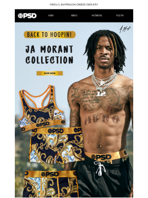 PSD Underwear - Basketball is Back! // Ja Morant Collection