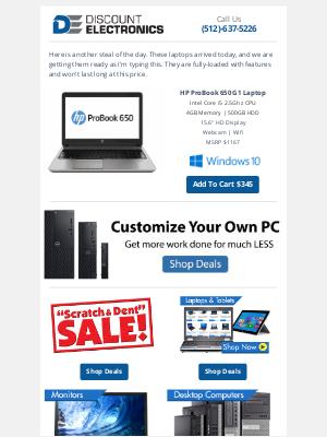 Discount Electronics - $345 HP i5 15.6