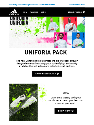 The new Uniforia soccer cleats