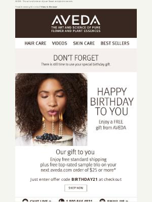 Aveda - Your birthday gift is waiting!