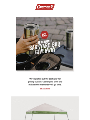 Coleman Company - Cookout central: Your backyard with the Ultimate Backyard BBQ Giveaway