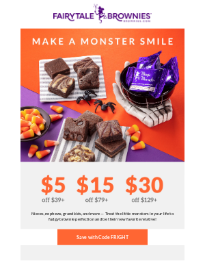 Fairytale Brownies - Up to $30 off the BEST gifts for little monsters!