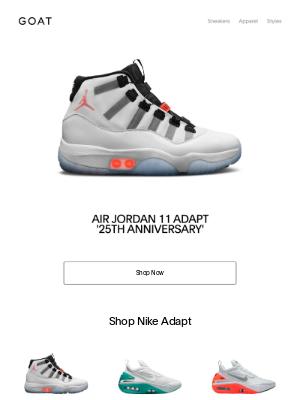 GOAT - Just Dropped: Air Jordan 11 Adapt 'White'
