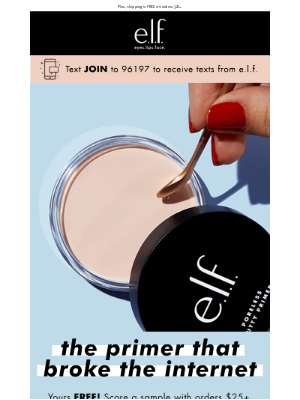 FREE sample of Poreless Putty Primer