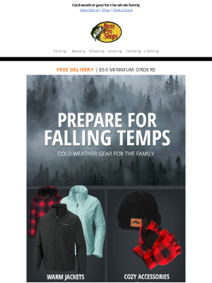 Bass Pro Shops - Stay warm in the outdoors