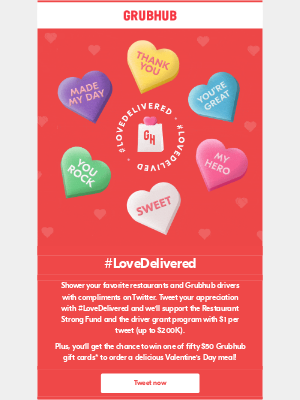 GrubHub - Show essential workers some love this Valentine's Day