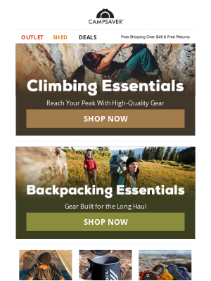 CampSaver - Climbing & Backpacking Essentials Inside ➡️