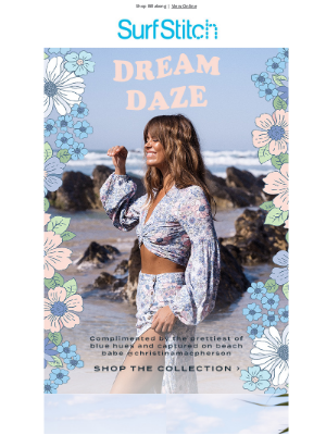 SurfStitch - Billabong's Dream Daze collection with @christinamacpherson