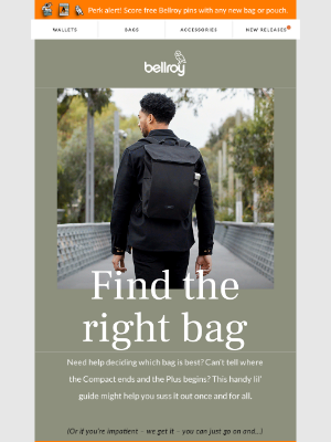 Bellroy - What's in a bag?