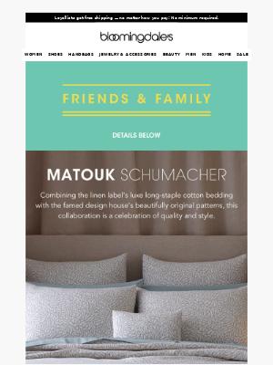 Matouk Schumacher: A bedding dream team