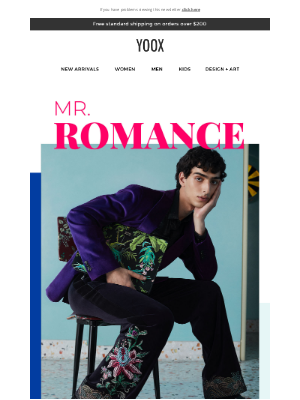 YOOX - Mr. Romance: Effortless style you'll love