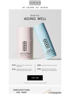 Versed - 30 days to smoother, firmer skin