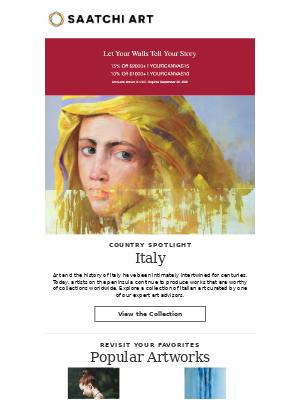 Saatchi Art - Spotlight on Artists in Italy