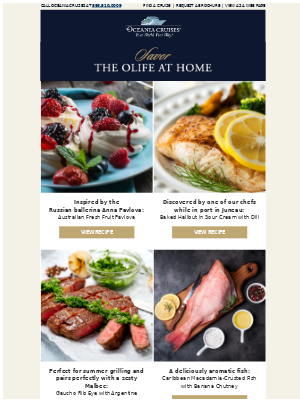 Try These Savory Oceania Cruises Recipes at Home