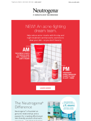 Neutrogena - Discover a powerful NEW duo to fight acne.