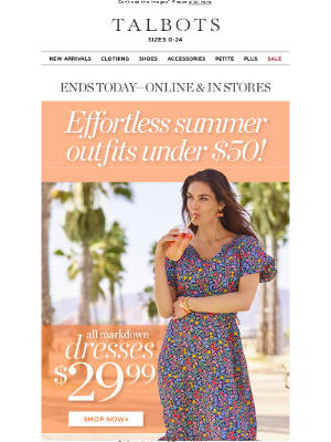 Talbots - ENDS TODAY: Outfits Under $50!