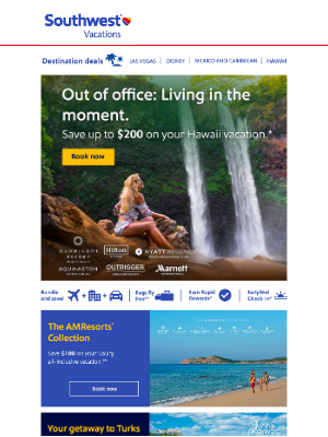 Southwest Vacations - Wish you were here! Are your bags packed?