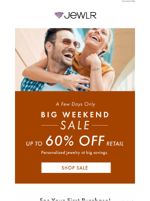 Jewlr - THIS WEEKEND ONLY ⭐  The Big Sale