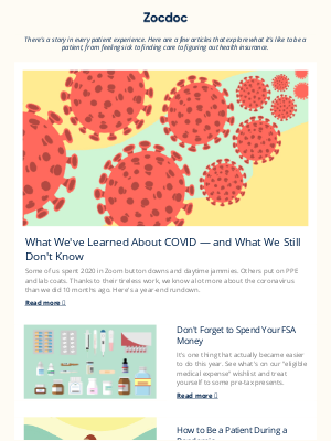 Zocdoc - What We've Learned About COVID — and What We Still Don't Know.