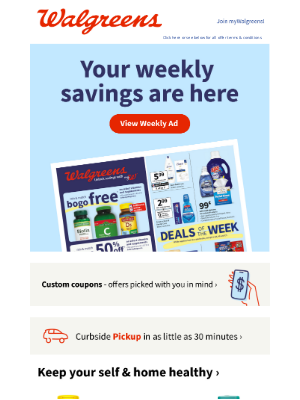 Walgreens - Today's the day! A new Weekly Ad is here