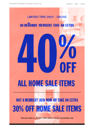 take an extra 40% OFF home sale items 🙌