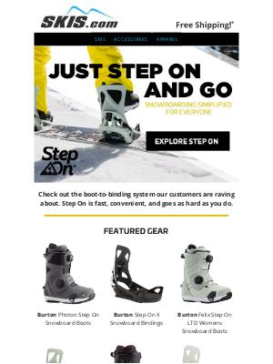Skis - Burton Step On: Snowboarding Simplified for Everyone