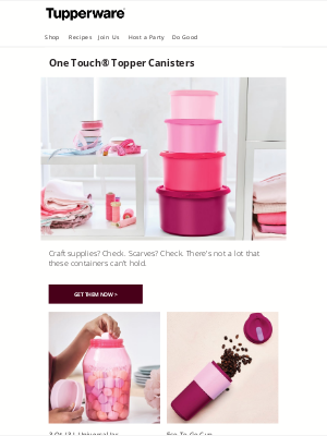 Tupperware - Think outside the kitchen.