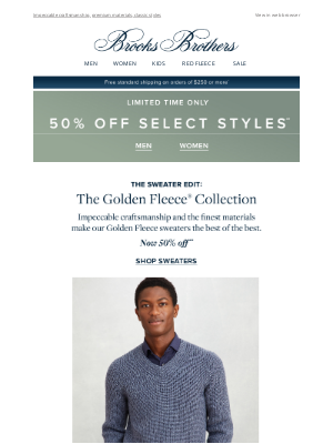 Brooks Brothers (AU) - Sweaters now 50% off: the Golden Fleece collection