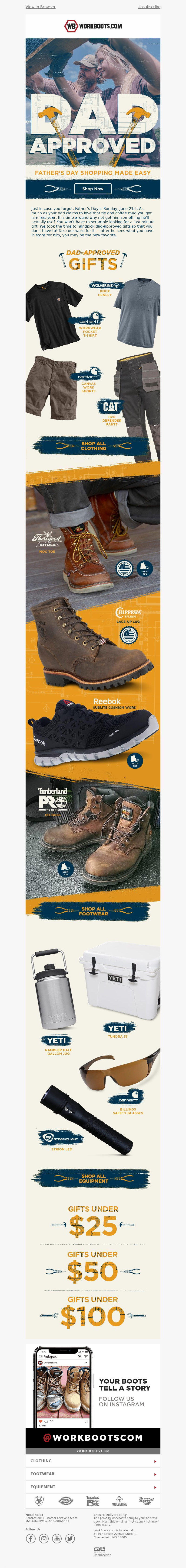 WorkBoots.com Logo Father's Day shopping made easy Just in case you forgot,