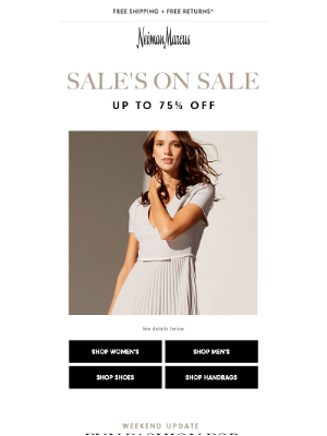 Neiman Marcus - Save up to 75% on your favorite designers!