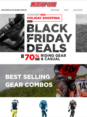 MotoSport - Early Black Friday Deals | Up To 70% Off