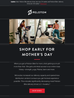 Peloton - Shop Early for Mother's Day