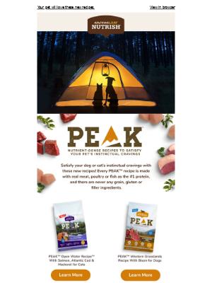 Let PEAK™ recipes power every pet adventure!