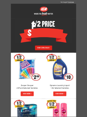 IGA (Independent Grocers Alliance) - Hi Janet, celebrate the New Year with these 1/2 Price Specials 🎆