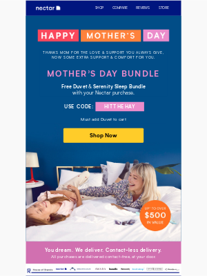 Nectar Sleep - Just for Mom: Lots of Love + Cozy Gifts 💕