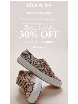 Superga - New markdowns now an EXTRA 30% off