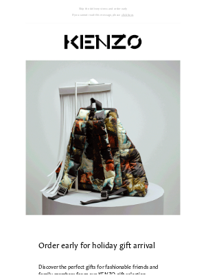 Kenzo - Shop now for holiday delivery