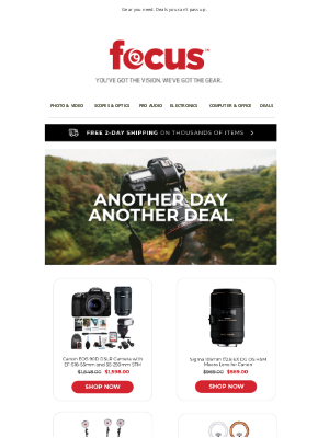 Focus Camera - Hot deals to get you through the weekend | Up to 75% off