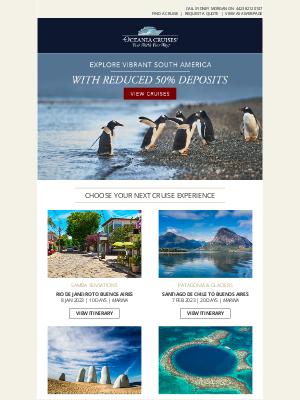 Oceania Cruises - Sensational Shores of South America