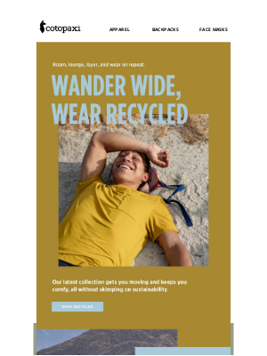 Cotopaxi - Wear Recycled ♻️ The Wander Collection