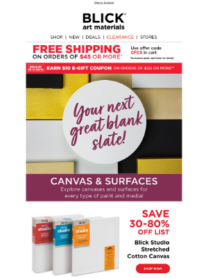 Blick Art Materials - New goals? New surfaces ✔