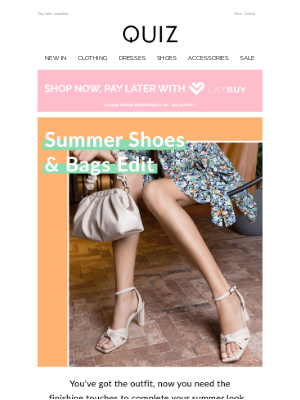 Quiz Clothing (UK) - Summer shoes & bags 🌻