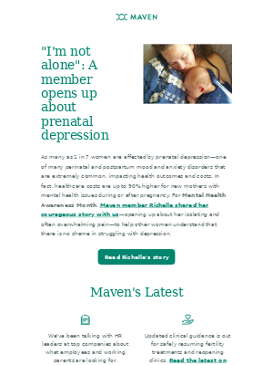 Maven - Opening up about prenatal depression, plus the top 4 trends we're hearing from HR leaders