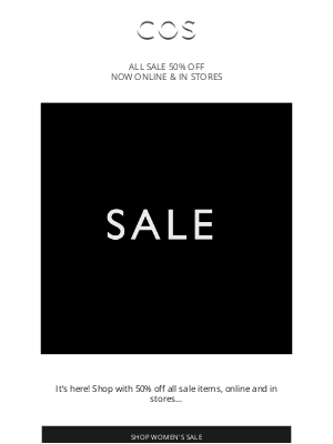 COS - Sale has arrived! Shop at 50% off now online & in stores